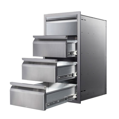 "Image of Memphis VGC15DB4 15"" Stainless Steel Four Drawer Stack"