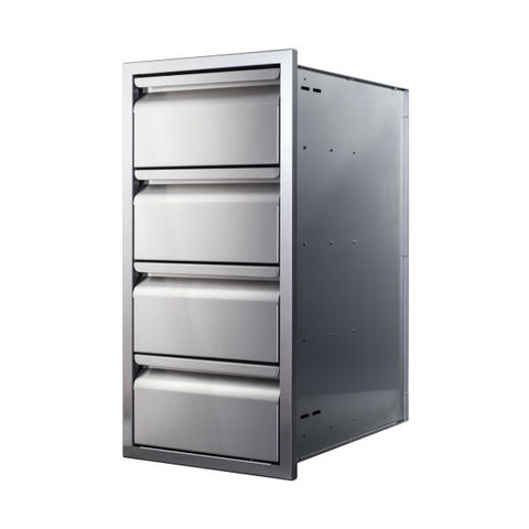 "Memphis VGC15DB4 15"" Stainless Steel Four Drawer Stack"