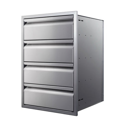 "Image of Memphis VGC21DB4 21"" Stainless Steel Four Drawer Stack"