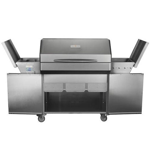 Memphis Elite Cart Model wood fire pellet grill Front view Expanded