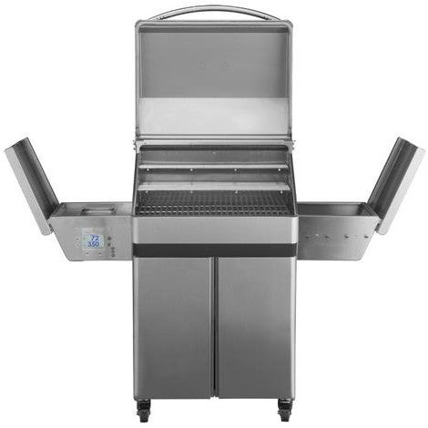 Image of Memphis Pro Wood Fire Pellet Grill Cart Model Front Open View