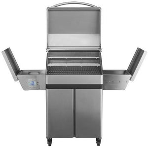 Memphis Pro Wood Fire Pellet Grill Cart Model Front Open View