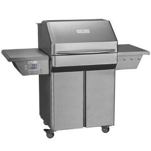 Memphis Pro Wood Fire Pellet Grill Cart Model Front Left