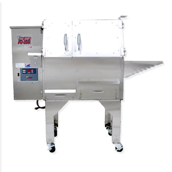 "Image of Cookshack Fast Eddy's PG500 56"" Stainless Steel Pellet Grill and Smoker in One"