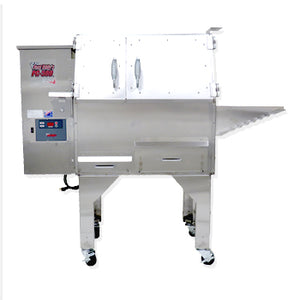 "Cookshack Fast Eddy's PG500 56"" Stainless Steel Pellet Grill and Smoker in One"