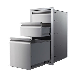 "Memphis VGC15DB3 15"" Stainless Steel Three Drawer Stack"