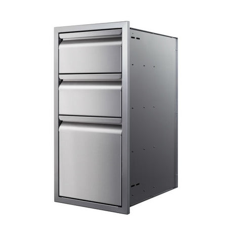 "Image of Memphis VGC15DB3 15"" Stainless Steel Three Drawer Stack"
