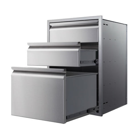 "Image of Memphis VGC21DB3 21"" Stainless Steel Three Drawer Stack"
