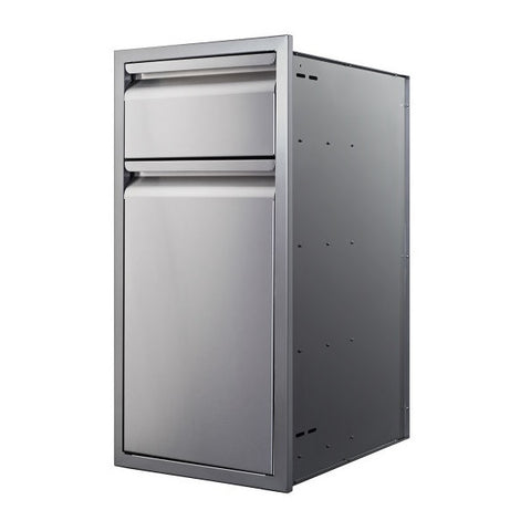 "Image of Memphis VGC15BWB1 15"" Stainless Steel Single and Trash Drawer"