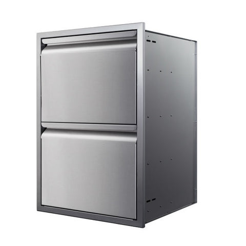 "Memphis VGC21DB2 21"" Stainless Steel Two Drawer Stack"