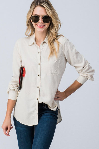 Tencel Button Down Shirt  |  S