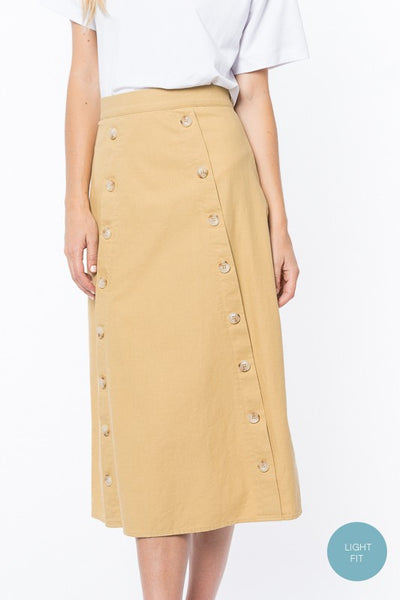 Willow Double Button Skirt