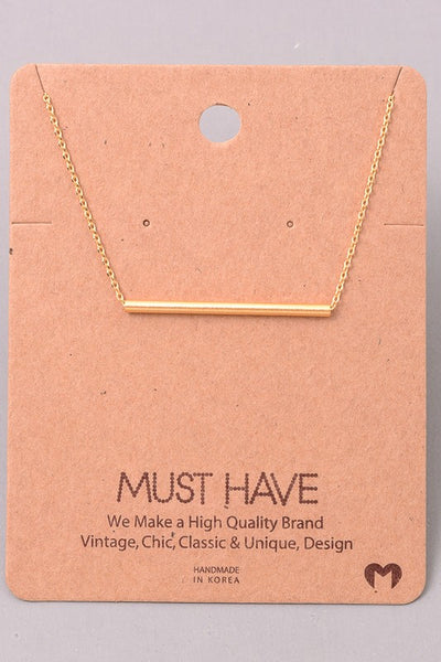 Must Have - Bar Necklaces |  3 Styles