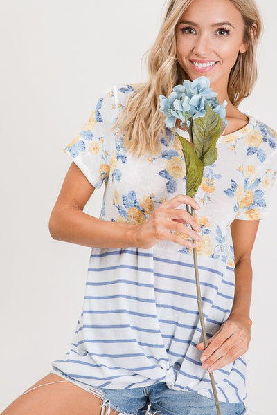 Garden Breeze Knotted Top