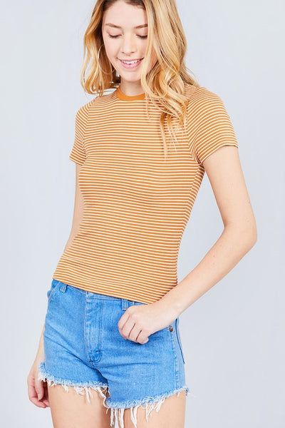 Aniston Striped Rib Knit Top  |  2 Colors