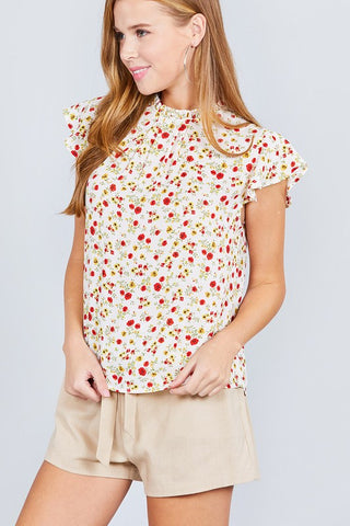 Addie Vintage Floral Top  |  4 Colors