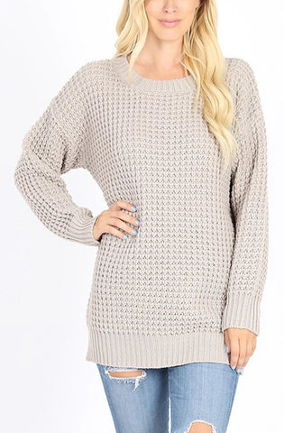 Round Neck Sweater  | 2 Colors