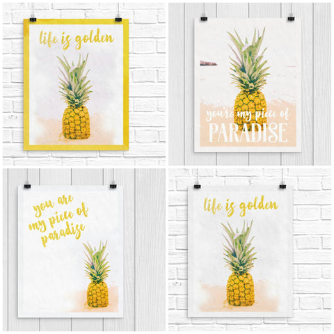 FREE Pineapple Printables - 4 options