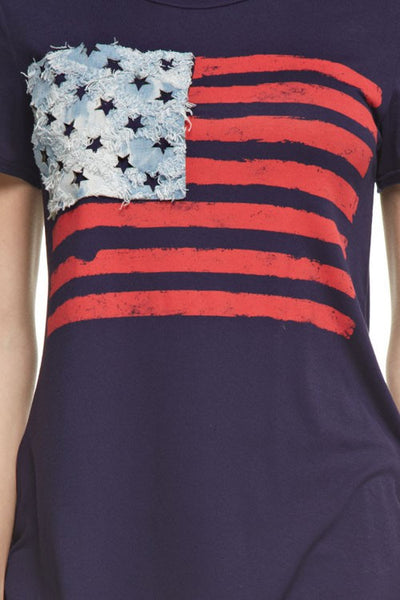 American Flag Denim Tee