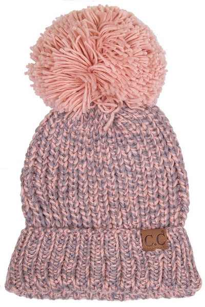 C.C. Beanie |  Multi color with Pom Pom