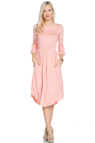 Bell Sleeve Dress | 2 Colors