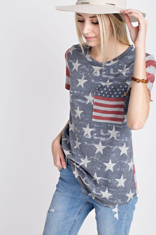 Distressed Patriotic Tee