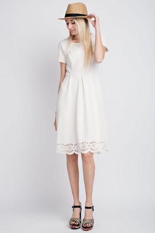Doily Lace Trim Dress