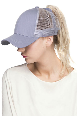 C.C. Messy Bun Trucker Hat  |  2 Colors
