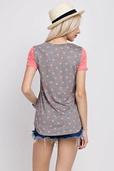 Dots & Color Blocks Tee