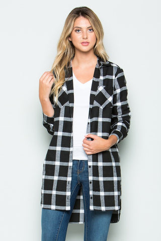 Flannel Plaid Tunic  |  2 Colors