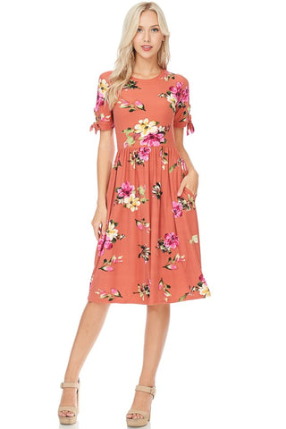 Natalie Floral Tie Midi  |  3 Colors  |  Small to XL