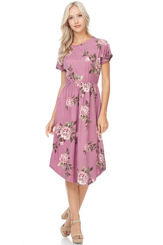 Savannah Floral Midi  |  Plus Size