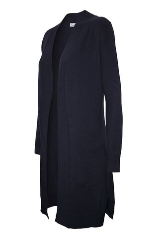 Long Pocket Cardigan  |  Navy | Small