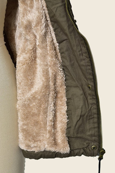 Utility Vest with Faux Fur Lining  |  5 Colors