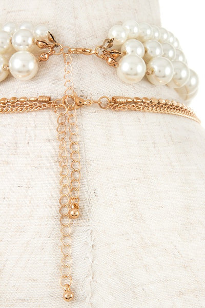 Pearl & Gold Choker Set