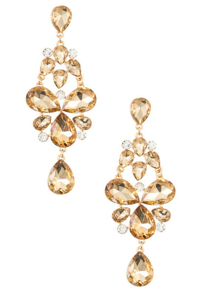 Gold/Topaz Statement Earrings