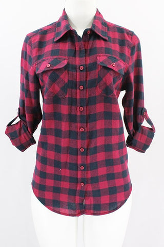 Burgundy Flannel Plaid