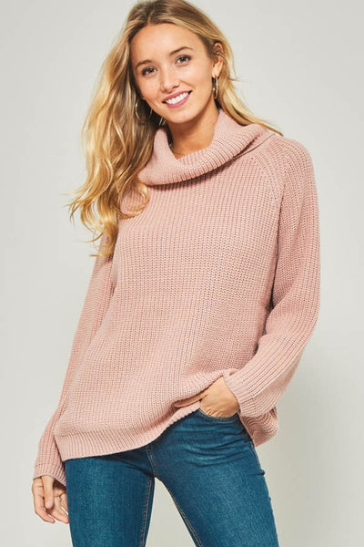 Mauve Cowl Neck Sweater