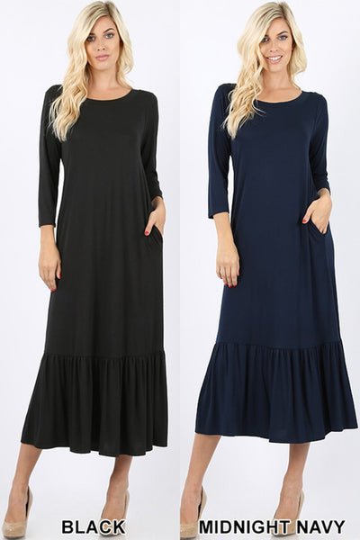 Swing Midi Dress  |  2 Colors