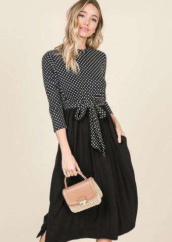 Allegra Polka Dot Dress | S-XL | 5 Colors