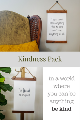 Kindness 3 Pack |  Interchangable Hanging Signs