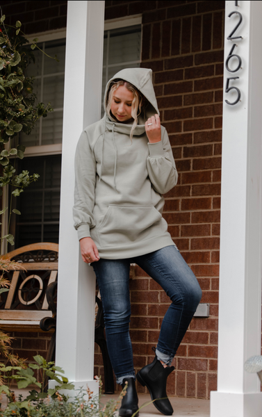 Willow Side Tie Hoodie  |  Two colors  |   S-XL