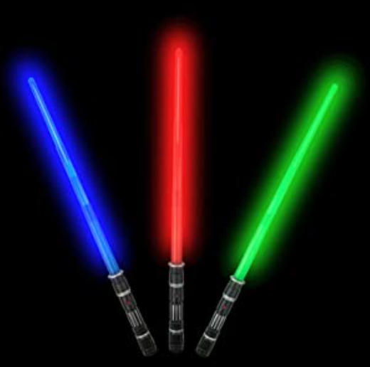 Light Saber  |  3 Colors  |  Sound effects + collapsible