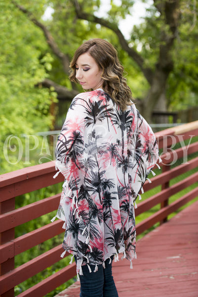 Palm Tree Kimono in 2 colors