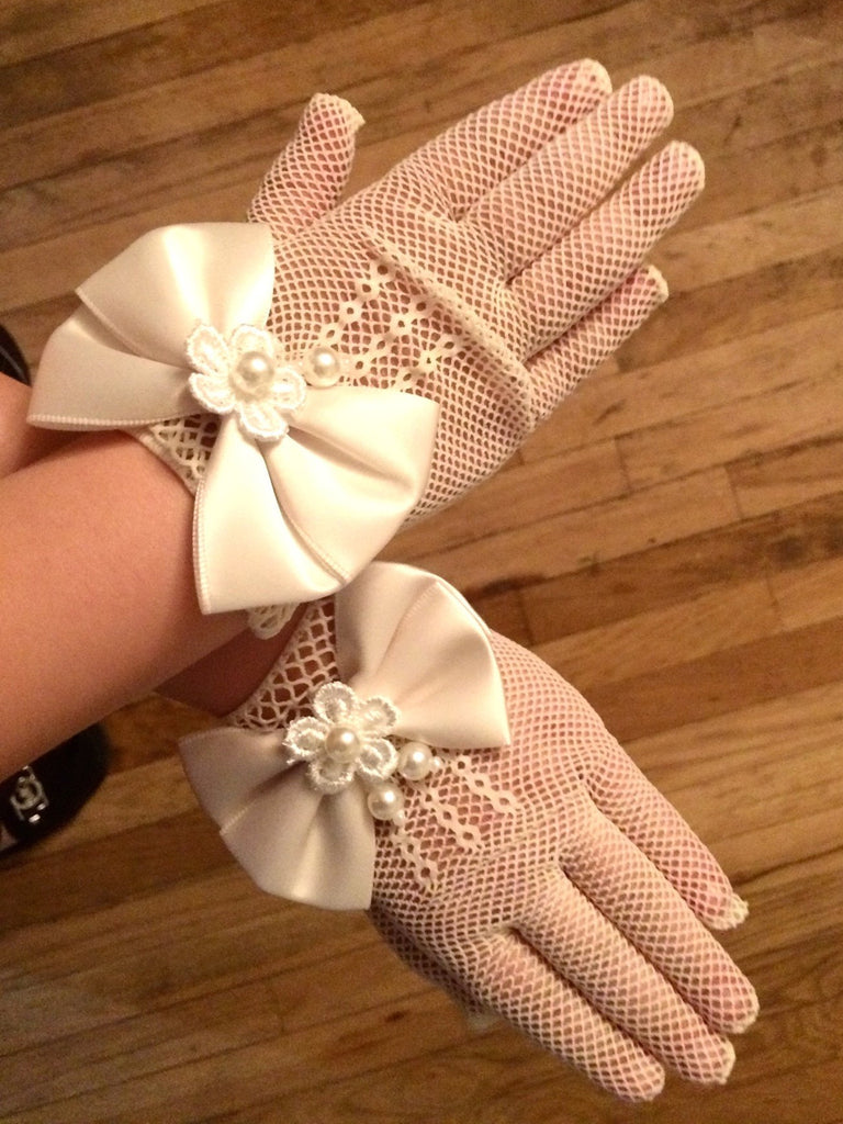Mommy & Me Tea Party Gloves | Cream