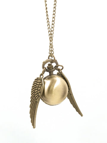 Golden Snitch Pocket Watch Necklace