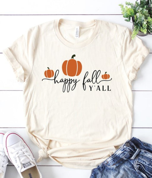 Happy fall yall - S, L, XL