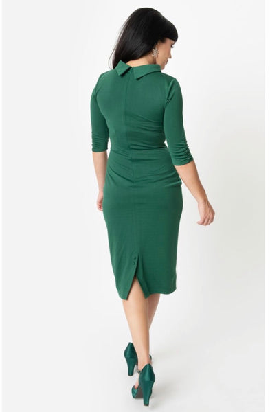 Cassidy Dress - Green | Unique Vintage 1960s Style  | XS-4X
