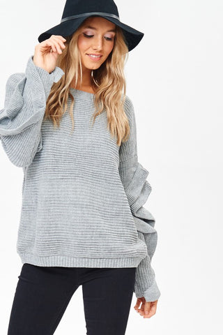 Ruffle Sleeve Sweater | 2 Colors