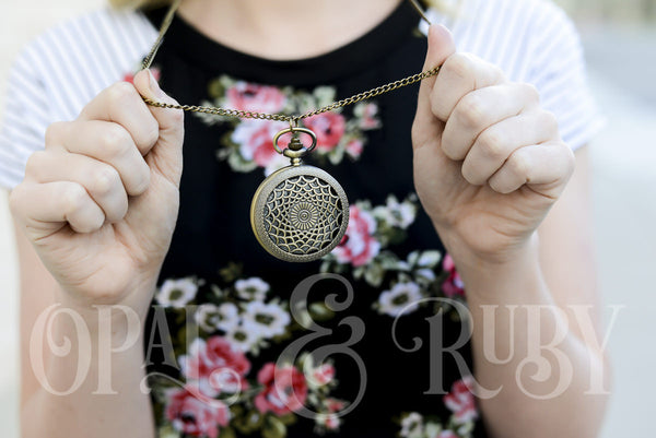 Victorian Pocket Watch Necklace